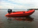 Bateau de nervure de bateau/moteur de pêche de fibre de verre d'Aqualand 14feet 4.3m (RIB420A)