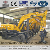Excavatrice sur roues 8.5ton avec Graspping Wood / Sugarcane / Bamboo Loader