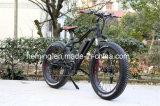 26*4.0 [500و] شاطئ ثلج جبل إطار العجلة سمينة دراجة كهربائيّة