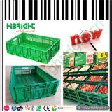 Caisses en plastique de supermarché pour des fruits et légumes