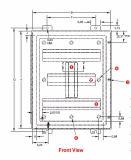 Тип 12 сталь NEMA датчика IP54 14 с коробкой управлениями Coated непрерывного сварного шва порошка промышленной электрической гидровлической