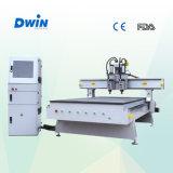 Machine en bois de couteau de commande numérique par ordinateur de travail du bois du modèle 3D de porte de vente chaude (DW1325)