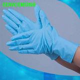 Устранимые перчатки рассмотрения нитрила (текстурированный напальчник)