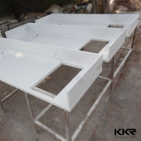 Countertop кухни камня кварца белизны 3cm Ce чисто (C1702101)