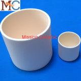 Crisol de cerámica cilíndrico del alúmina de la dimensión de una variable Al2O3