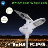 Réverbères solaires du faucon DEL de mouche de qualité de Bluesmart 15W
