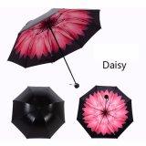 ガラス繊維の肋骨が付いている反紫外線日よけパラソルの傘3Dの花プリント