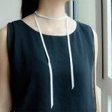 Longueur grise rouge 119cm de colliers de foulard de la bande DIY de Champagne Rose