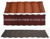 Linha de produção de pedra da telha do metal do telhado do revestimento