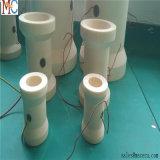 Peça cerâmica da alumina da flange da tubulação Al2O3
