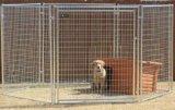 Gaiola da cerca do funcionamento do cão, pó e galvanizado revestido
