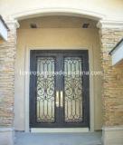 Porta da rua de bronze luxuosa decorativa da segurança interior