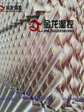 Refrigerador da almofada da celulose refrigerar evaporativo da estufa