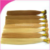 U / I Tip Keratin Hot Fusion Pre-Bonded Remy Extensões de cabelo humano