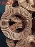 Tubo de cobre da bobina padrão da panqueca do Refrigeration En12735