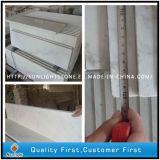 Suelo de mármol blanco de China Guangxi que pavimenta los azulejos para el cuarto de baño decorativo