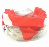 Foulard de couleur chamois tubulaire magique de Snowboard multifonctionnel de Microfiber de polyester estampé par logo fait sur commande