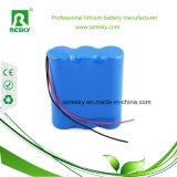 bateria 2200mAh do Li-íon 18650 7.4V para luzes elétricas da bicicleta