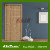 PVC imperméable à l'eau de matière première de WPC enveloppant la porte (KM-14)