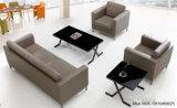 Sofá secional de couro moderno barato da mobília de escritório do projeto da mobília único