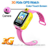Múltiplos idiomas 3G WCDMA Kids Tracker Watch com 2.0m Camera (D18)