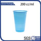 Cor descartável caneca plástica personalizada da água de copo