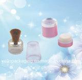 Il contenitore cosmetico delle estetiche del pacchetto di imballaggio di plastica spolverizza liberamente la cassa (YELLO-163)
