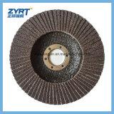 """6 """"磨く金属のための研摩の折り返しの車輪を紙やすりで磨くジルコニアの酸化物"""