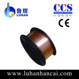 MIGの二酸化炭素の銅のセリウムが付いている上塗を施してある溶接ワイヤEr70s-6、CCS、ISO