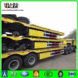 半60トンの三車軸掘削機の輸送の低いベッドのトレーラー