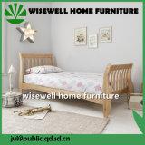 Festes Kiefernholz-Pferdeschlitten-Bett für Kind-Möbel (W-B-0040)
