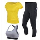 Qualitäts-Yoga-Büstenhalter-Frauen-Hemd-Frauen-Gamaschen, die Abnützung rütteln