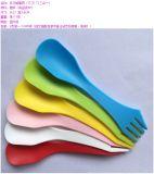 플라스틱 칼 포크 숟가락의 식기3 에서 1 다채로운