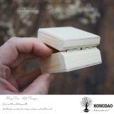Hongdao подгоняло коробку деревянного Jewellery упаковывая для _E деревянной коробки крышки подарка обручального кольца малого прикрепленного на петлях