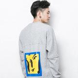 최신 판매 남자의 바위 같은 인쇄 회색 스웨트 셔츠