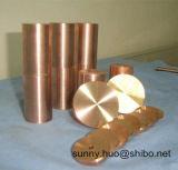 Lega di rame del tungsteno Polished (WCu) Rod, barra di Wolframcopper