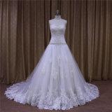 Платье венчания фабрики сразу изумительный с шнурком
