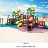 子供のための新しいデザイン遊園地の屋外の運動場装置の屋外のスライド