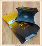 Verschiedener Fastfood- Reißverschluss-Dichtungs-Packpapier-Kaffee-Großhandelsbeutel mit seitlichem Stützblech
