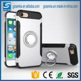 Caso a prueba de choques de la cubierta del teléfono de la PC del sostenedor del anillo de la venta caliente para el iPhone 7/7 más