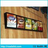 Signage personalizado da caixa leve do menu do diodo emissor de luz do tamanho para o restaurante