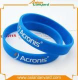 Anunciou o Wristband do silicone com logotipo lateral dobro