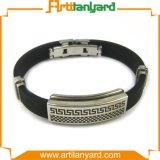 Abnehmer-Entwurfs-Silikon-Armband mit Metall