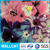 La flor colorida imprimió la tela 100% del poliester para la ropa y la guarnición