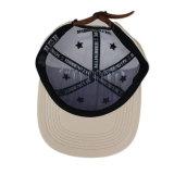 3D刺繍のロゴの安いカスタム完全な革急な回復の帽子