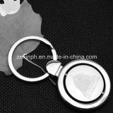 Trousseaux de clés de rotation en métal de coutume avec le logo conçu