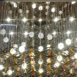 Vorhalle-feste Luftblasen-Glaskugel-Farbton-und Acryl-Blätter mit Metallrasterfeld-Ineinander greifen-Leuchter
