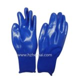 Gant de travail de sûreté de gants de nitriles plongé par moitié de gants de NBR