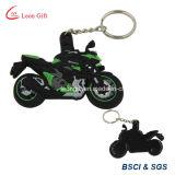 顧客用オートバイの形Rubber/PVC Keychain