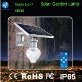 appareil d'éclairage solaire de jardin de 6W-12W 600-720lm avec la batterie au lithium